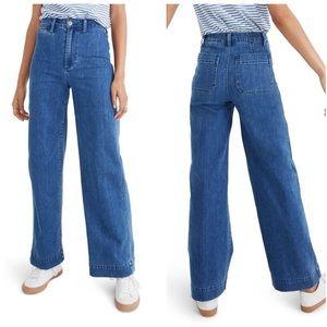 NWOT Madewell Emmett Highrise Wideleg Crop Jeans